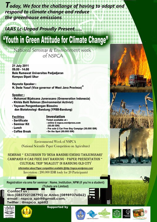 National Seminar Youth Green Attitude Climate Change