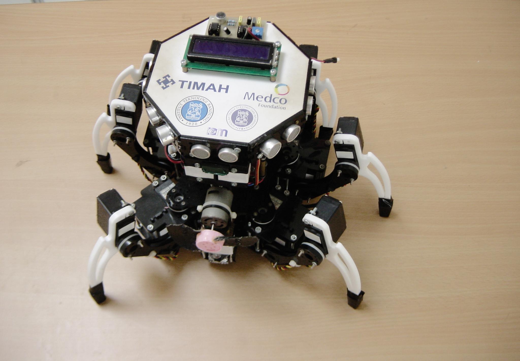 Robot hexapod pemadam api itb zarqun sebuah goresan